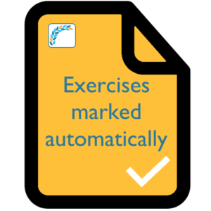Exercises marked automatically